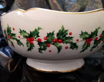 Lenox Ceramic Christmas Bowl