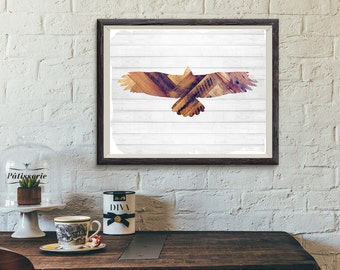 Hawk, Wall Art, Eagle Wall Art, Rustic Nursery, rustic decor nursery,Woodland,Nursery Art,Nursery Art, Printable, Shiplap, Wood, Last Minute