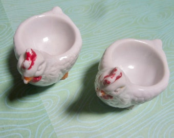 A Pair of Vintage Ceramic Chicken Egg Cups