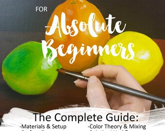 Acrylic Painting for Absolute Beginners: The Complete Guide E-book Instant Download PDF