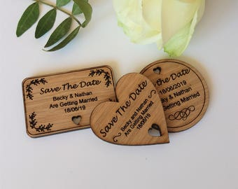 Wooden Save The Date Magnet - Various Styles - Rustic Wedding- Wedding Magnet-  Personalised Wedding stationary- Wedding Invite-Cutomised