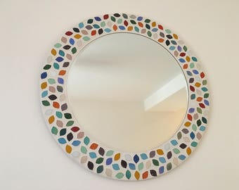 Petal Design Mosaic Mirror