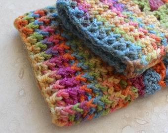 Fingerless gloves, hand crocheted fingerless gloves, wool gloves, crochet gloves, handmade gloves, small gloves, multicolor gloves