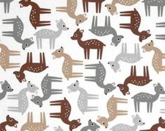Woodlands Cotton Quilt Fabric Robert Kaufman Deer Neutral  By the Yard
