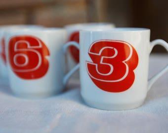 Four Vintage cups