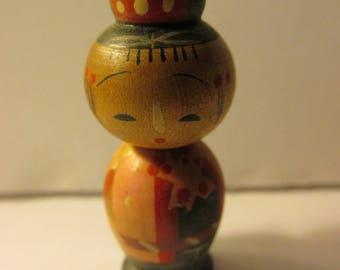 "1 1/2"",  Miniature Girl Kokeshi Doll"