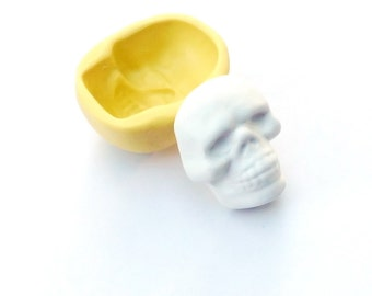 polymer clay skull mold, sugar skull mold, silicone mold, silicone mould, candy mold, resin mold, soap mold