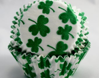 Shamrock Cupcake Papers