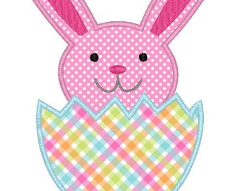 Easter Bunny Egg Machine Embroidery Applique Design