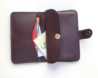 Gift for men, Leather wallet, man purse leather,  handmade wallet, mens leather wallet