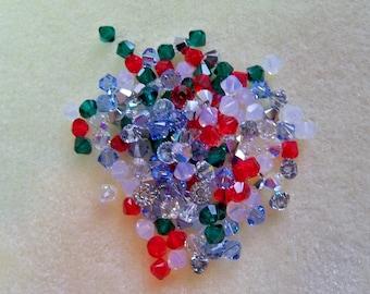 144 Swarovski Crystal Bicone (5328) 1 Gross of Beads Mix Assortment Christmas