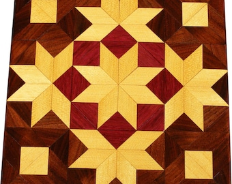 Satinwood Stars and Cubes Quilt Block