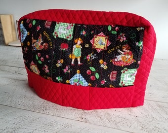 Sewing Machine Cover - Red & Black