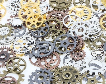 Set of 5 gears steampunk (random shapes)