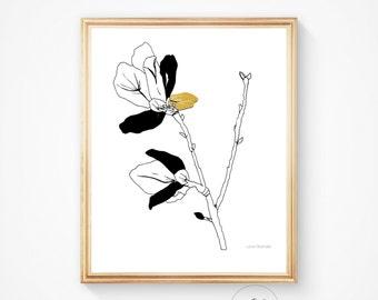 Floral wall art, Botanical art, Art print, Flower wall art, Flower painting, Home decor, Botanical print, Floral print, Flower print, Print