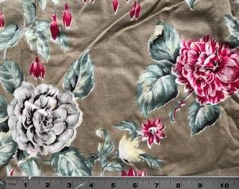 Vintage Fabric- Single Barkcloth Curtain Panel