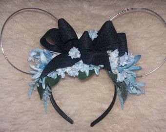 Alice in Wonderland theme Flower Crown mouse ears