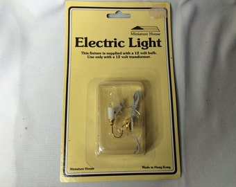 Dollhouse Miniature Electric Candle Sconce