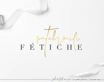 Premade Logo, Blog logo, branding logo, watermark, makeup logo, beauty logo, feminine logo, Photography Logo, wording logo, gold logo