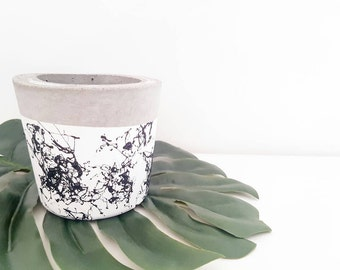 Marble Lux small indoor planter