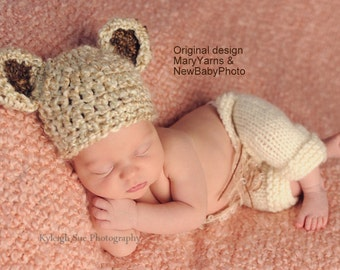 Teddy Bear Newborn Photography Hat / BEAR Hat all babies  Photo prop HAT / Newborns New Baby Hat Perfect GIFT / Photo Shoot Baby Bear Hat