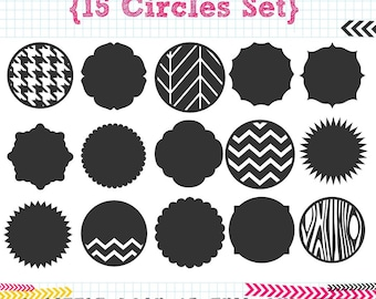 15 Circles SVG DXF cut files