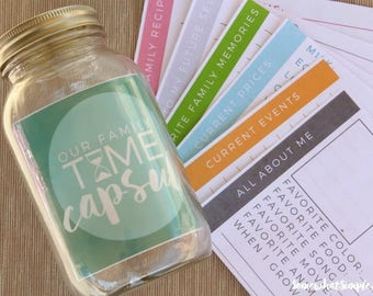 Family Time Capsule Printables