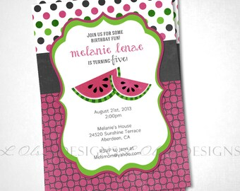 Summertime Watermelon Birthday or Special Event Invite - DIY Printable