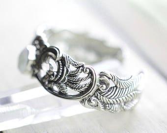 Moonstone Bracelet, Moonstone Cuff Bracelet, Moonstone Jewelry, Silver Bracelet, 925 Sterling Silver Cuff Bracelet, Sterling Silver Bracelet