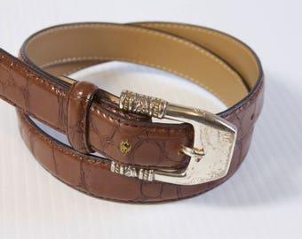 Vintage Brown womens Leather Belt-  size medium by Enmon