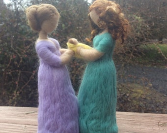 Needle Felted Surrogate or Adoption Gift You Pick Colors