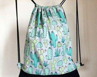 Backpack Bag Cactus