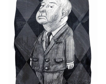 Hello Hitch ... Ode to Alfred  Hitchcock ... limited edition print