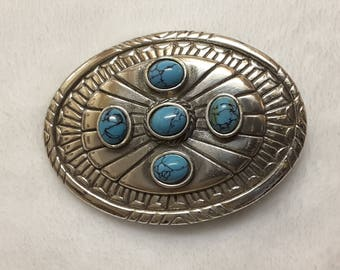 Native American Style Western Belt Buckle