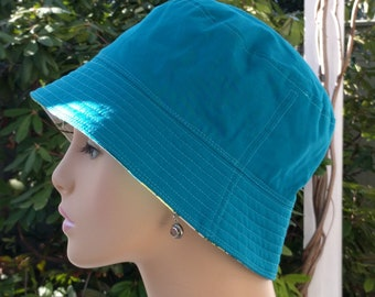 Chemo Hat Custom for Sharon Cancer Headwear Bucket Hat Reversible  SMALL