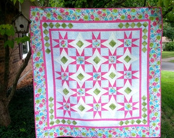 SALE, Buy 2, Get 1 Free -- DOUBLE D'LITE, pdf quilt pattern, Throw, Twin, Queen and King sizes