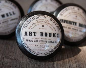 "Vintage Knobs The Books Series Newest Design - ""Art Books"""