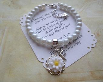Personalized Flower Girl Jewelry, Personalized Flower Girl Bracelet, Personalized Childrens Bracelet, Personalized Children's Jewelry