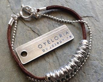 Silver bracelet, silver beaded bracelet, silver link bracelet, simple silver bracelet, silver stacking bracelet, layering silver bracelet