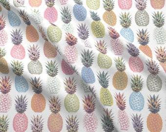 Pineapple Fabric - Pineapple Summer By Mariafaithgarcia - Tropical Pineapples Cotton Fabric By The Yard With Spoonflower
