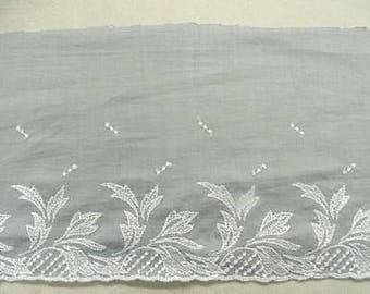 EMBROIDERY cotton-15 cm 5 cm - blue gray