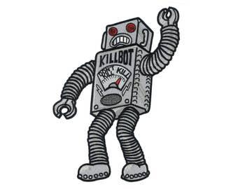 "GIANT 12"" Robot Monster Back Patch - B-Movie Weird Freak Dr. Frankenstein Zombie Creep Science Fiction Alien Strange"