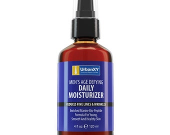 4oz Age Defying Anti Aging Daily Face Moisturizer For Men - Visibly Reduce Fine Lines & Wrinkles For A Youthful Skin Tone 4oz