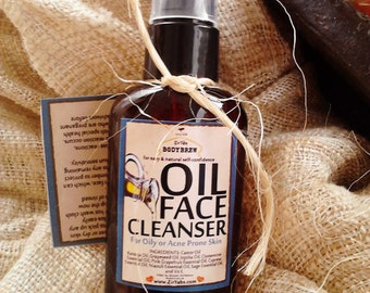 Oil Face Cleanser | 2 oz | Face Cleansing Oil | Makeup Remover | Blackhead Removal | Cold Cream | Oil Cleansing Method | Clean with Oil