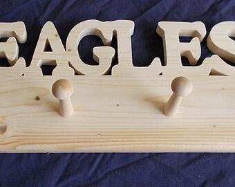 Wooden Eagles Shaker Peg Rack