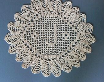 """Custom Handmade Crocheted Initial Doily  """"J"""""""