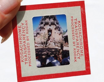 Kodachrome color slides- 1950s Kodak color slides of Asia, mostly Nepal and India, mixed media art supplies, travel film slides