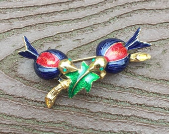 Vintage Jewelry Stunning 2 Birds on a Branch Pin Brooch