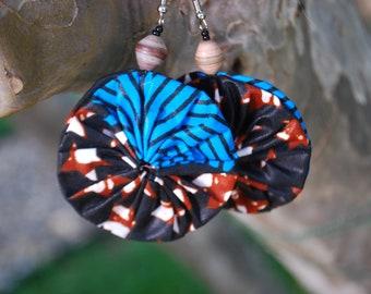 Dangle earrings, African print, Glory!