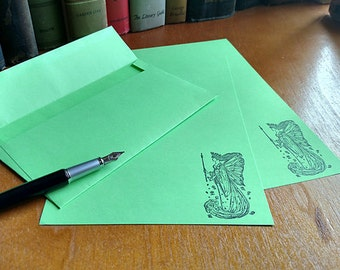 Stationery Letter Set Green Fairy 20 sheets and 10 Envelopes